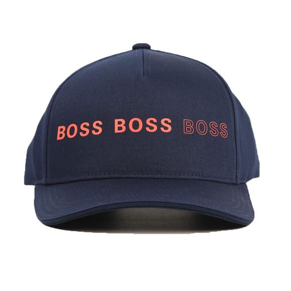 BOSS Mens Blue Athleisure Cap-Double Cap