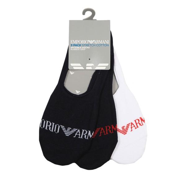 Emporio Armani Mens Multicoloured 3 Pack Invisible Socks