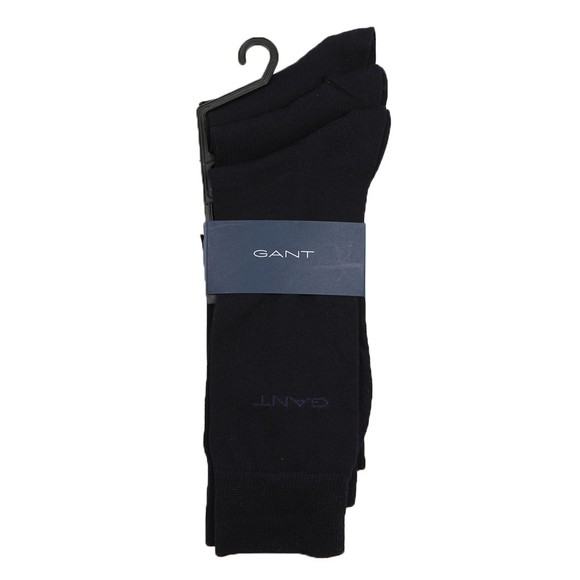 Gant Mens Blue Mercerized Cotton 3 Pack Sock