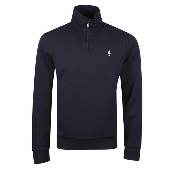 Polo Ralph Lauren Mens Blue Tech Half Zip Sweatshirt