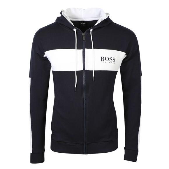BOSS Mens Blue Bodywear Colour Block Hoody