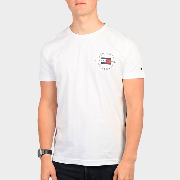 Tommy Hilfiger Mens White Circle Chest Corp T-Shirt