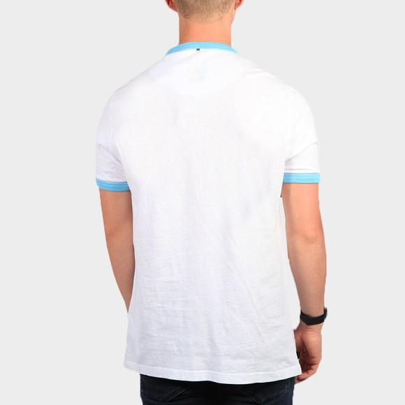 Pretty Green Mens White Retro Logo Apple T-Shirt main image