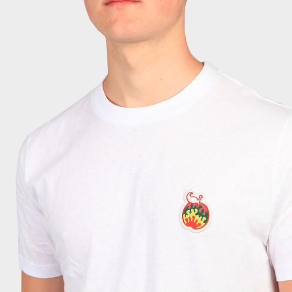 Pretty Green Mens White Apple Badge T-Shirt main image