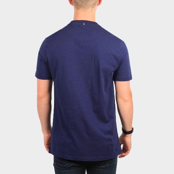 Pretty Green Mens Blue Apple Badge T-Shirt main image