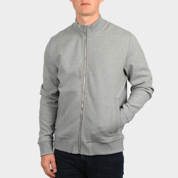 BOSS Mens Silver Formal Sommers Full Zip Sweatshirt