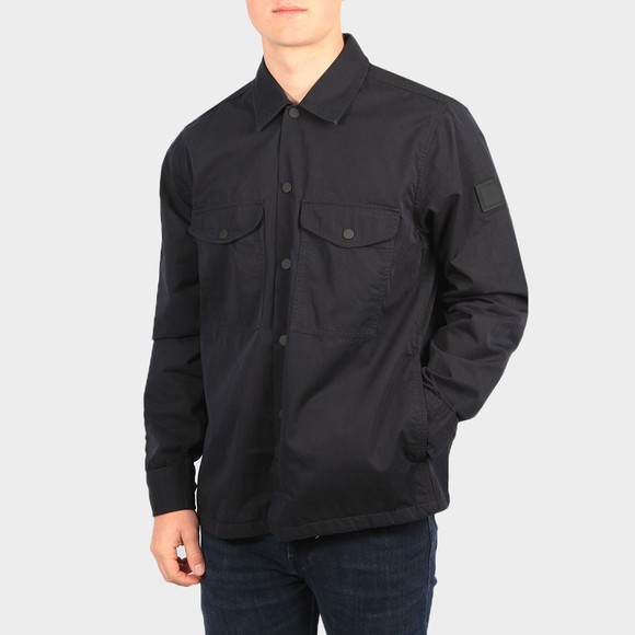 BOSS Mens Black Casual Lovel Overshirt