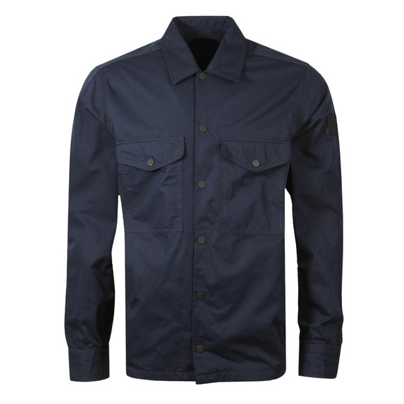 BOSS Mens Blue Casual Lovel Overshirt