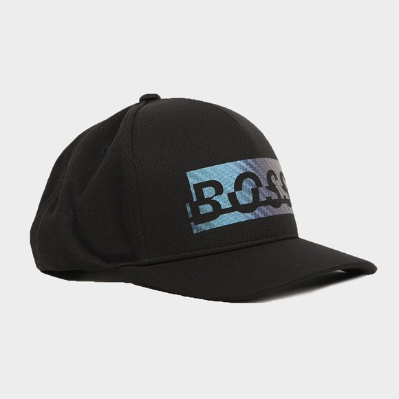 BOSS Mens Black Athleisure Cap-Double Cap