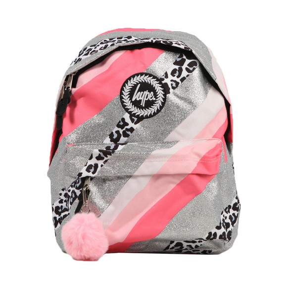 Hype Girls Pink Glitter Leopard Wave Backpack
