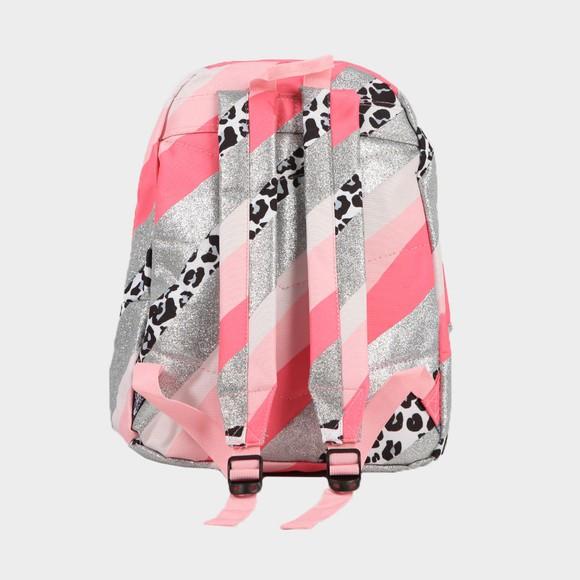 Hype Girls Pink Glitter Leopard Wave Backpack main image