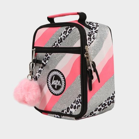 Hype Girls Pink Glitter Leopard Wave Lunchbox main image