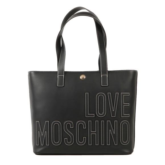 Love Moschino Womens Black Large Logo Tote main image