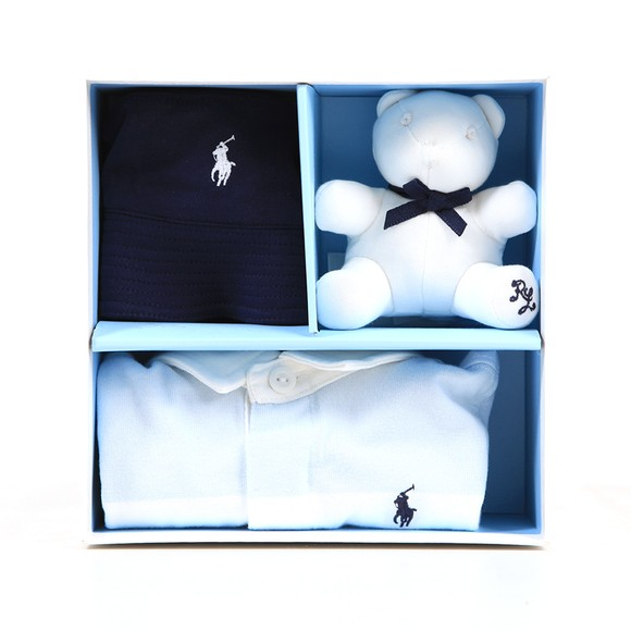 Polo Ralph Lauren Boys Blue Bear Shortall Gift Box
