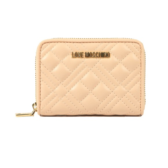 Love Moschino Womens Off-White Small Cross Quilted Purse