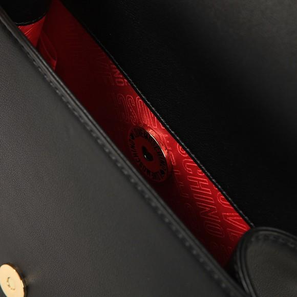Love Moschino Womens Black Heart Logo Shoulder Bag main image