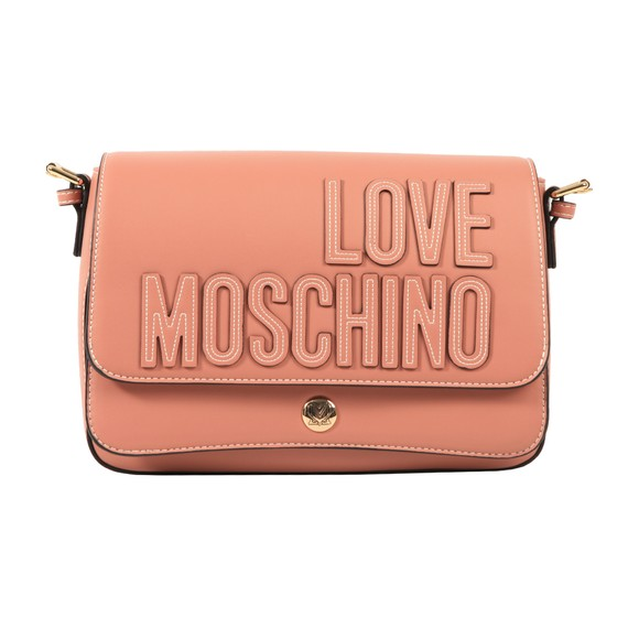 Love Moschino Womens Pink Large Logo Tote Bag