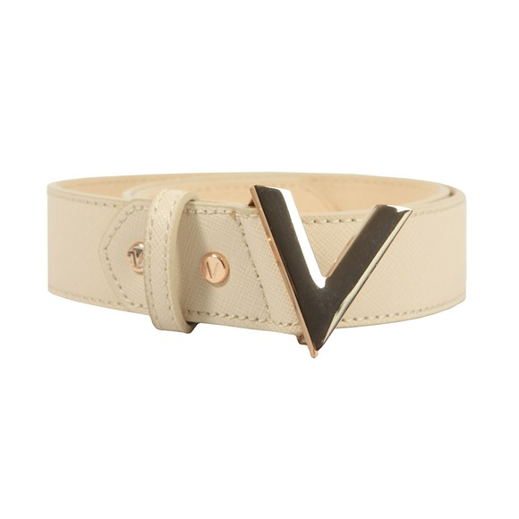 Valentino Bags Womens Off-White Forever Saffiano Leather Belt