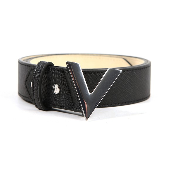 Valentino Bags Womens Black Forever Saffiano Leather Belt