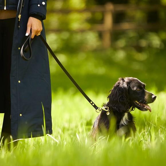 Holland Cooper Womens Black Classic Dog Lead main image