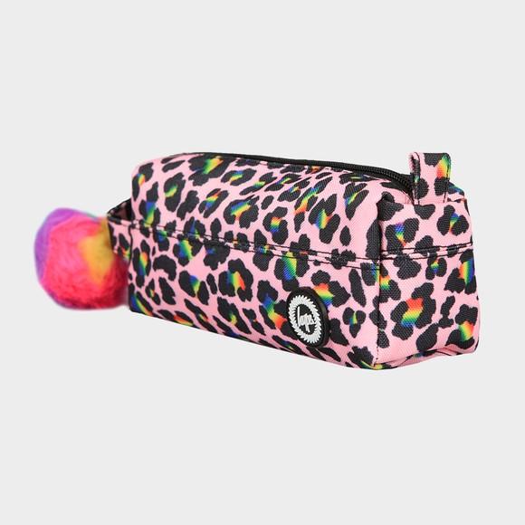 Hype Girls Multicoloured Rainbow Leopard Pencil Case