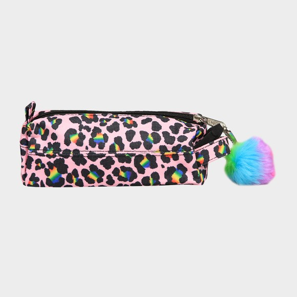 Hype Girls Multicoloured Rainbow Leopard Pencil Case main image