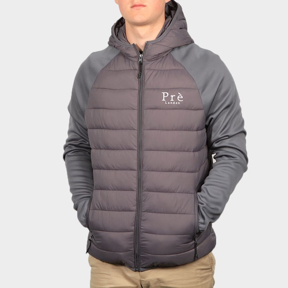 Pre London Mens Grey Hybrid Jacket