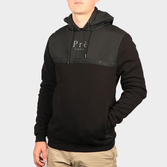 Pre London Mens Black Belver Hooded Sweatshirt