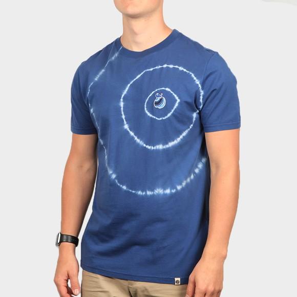 Pretty Green Mens Blue Apple Tie Dye T-Shirt main image