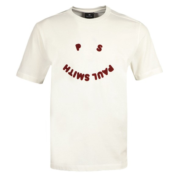PS Paul Smith Mens Off-White Happy T-Shirt