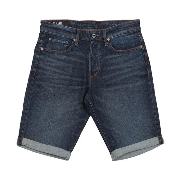 G-Star Mens Blue 3301 Slim  Short