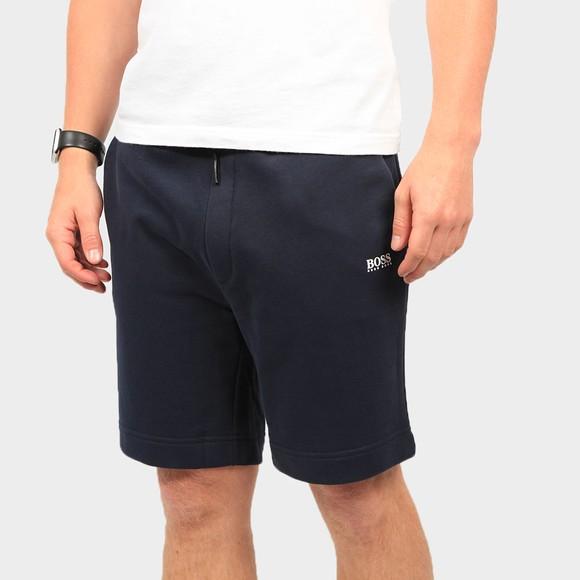 BOSS Mens Blue Casual Skeevito Jersey Short