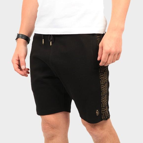 Luke Sport Mens Black Bull Side Detail Short