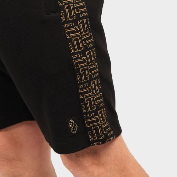 Luke Sport Mens Black Bull Side Detail Short main image