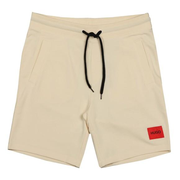 HUGO Mens Off-White Diz212 Jersey Short
