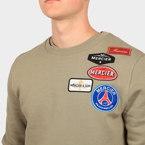 Mercier Mens Green Badge Crew Sweatshirt main image
