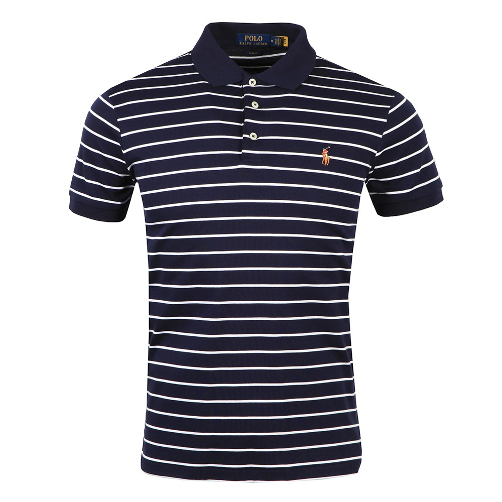 Pima Cotton Stripe Polo Shirt