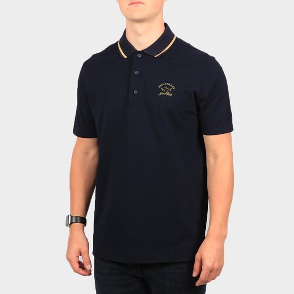 Paul & Shark Mens Blue Tipped Collar Polo Shirt