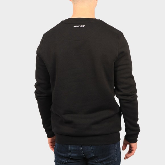 Mercier Mens Black Printed Badge Sweatshirt main image