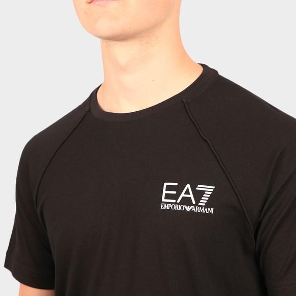 EA7 Emporio Armani Mens Black Logo T-Shirt main image