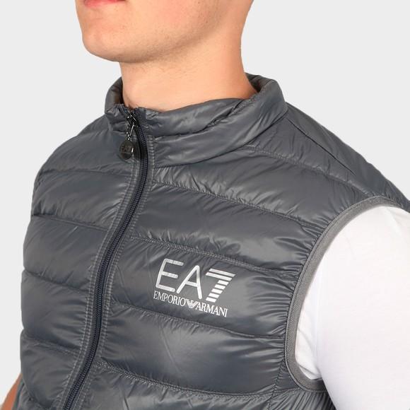 EA7 Emporio Armani Mens Grey Small Logo Down Gilet main image