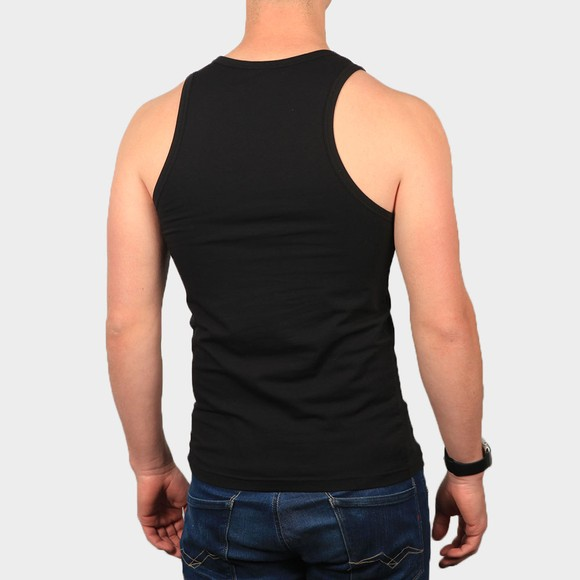 Emporio Armani Mens Black Embroidered Logo Vest main image