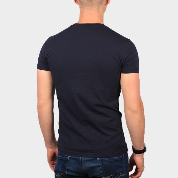Emporio Armani Mens Blue Strip Logo Stretch T Shirt main image