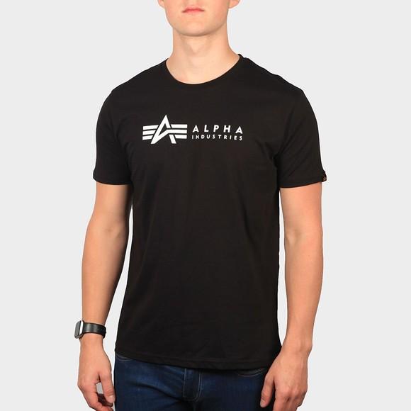 Alpha Industries Mens Black Basic Label T-Shirt