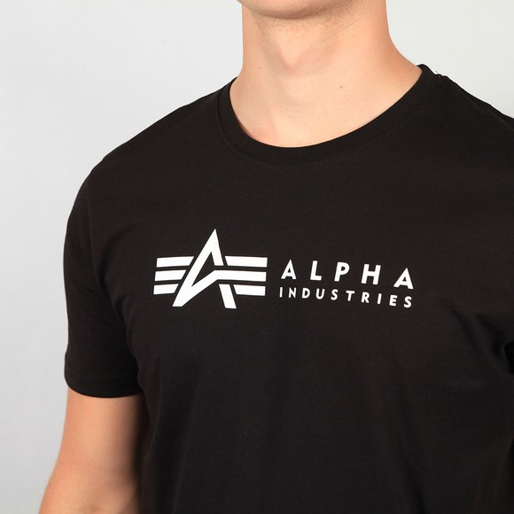 Alpha Industries Mens Black Basic Label T-Shirt  main image