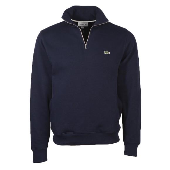Lacoste Mens Blue SH1927 Half Zip Sweatshirt