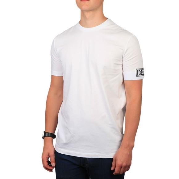 Dsquared2 Mens White DSQ2 Block Arm Detail T-Shirt