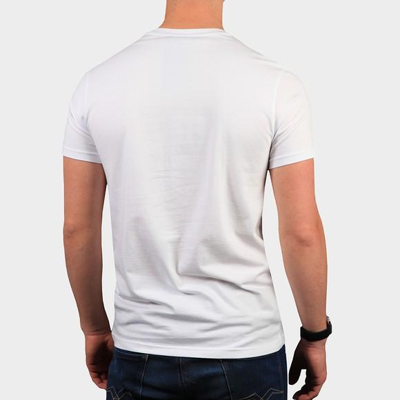 Emporio Armani Mens White Embroidered Eagle Logo Stretch T Shirt main image