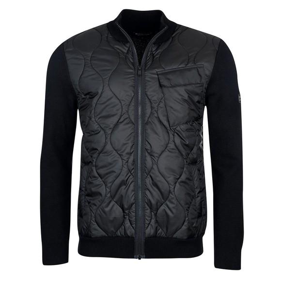 Barbour International Mens Black Slipstrean Quilted Zip Jacket