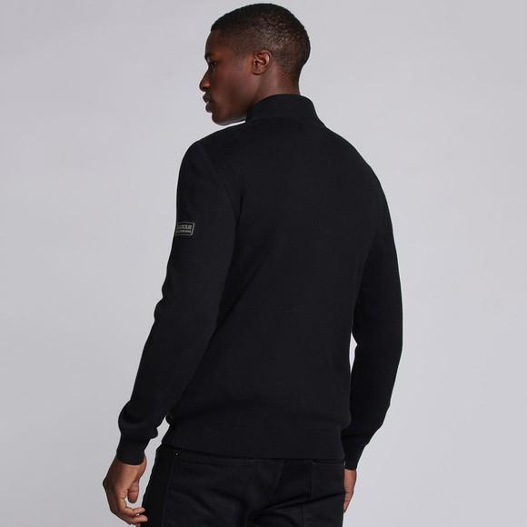 Barbour International Mens Black Slipstrean Quilted Zip Jacket main image